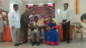 Felicitation by Alluri Seeta Rama Raju Seva Samithi on 13-1-2019 at LRPalem, Vizag District
